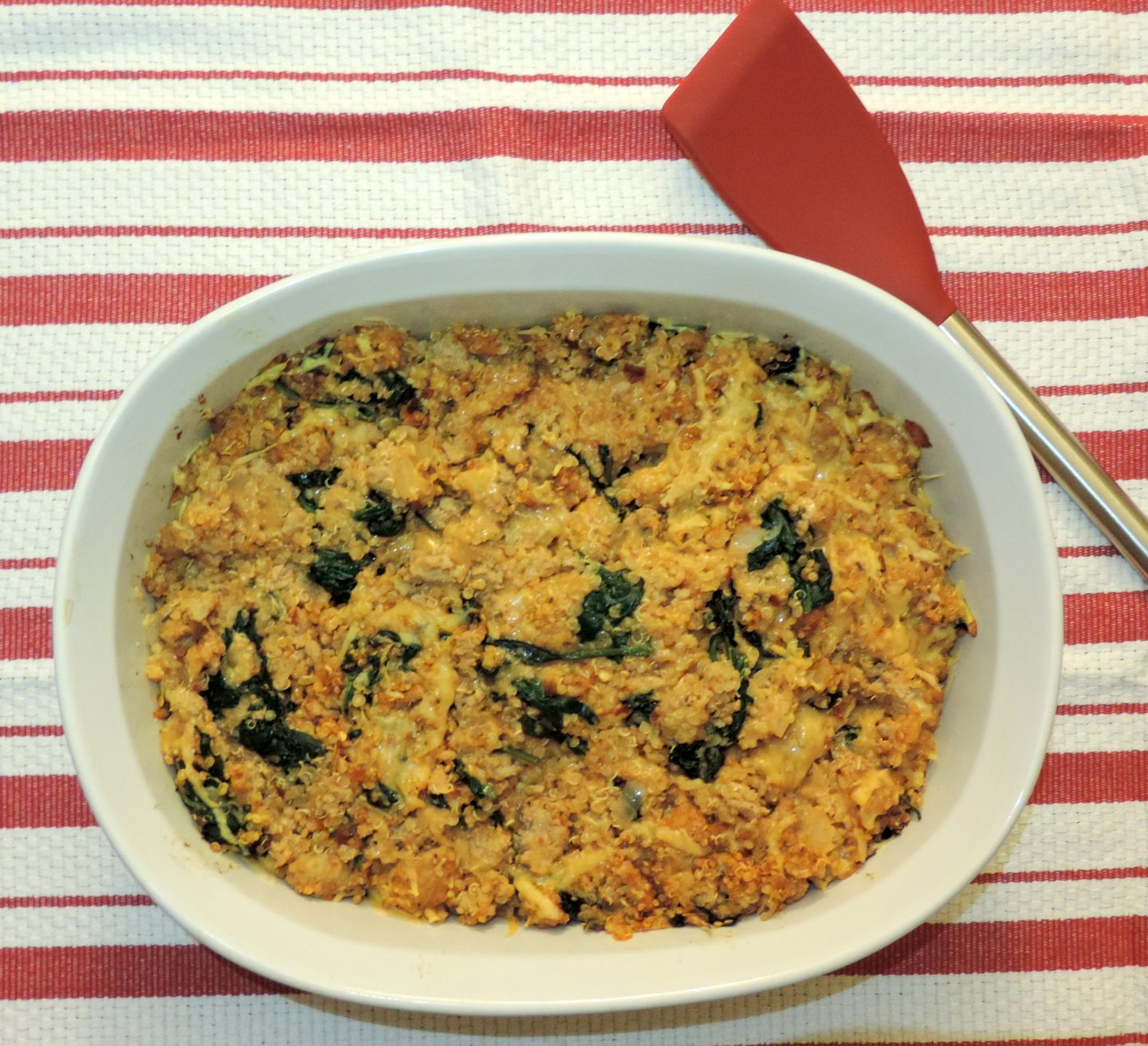 Turkey, Spinach and Quinoa Casserole