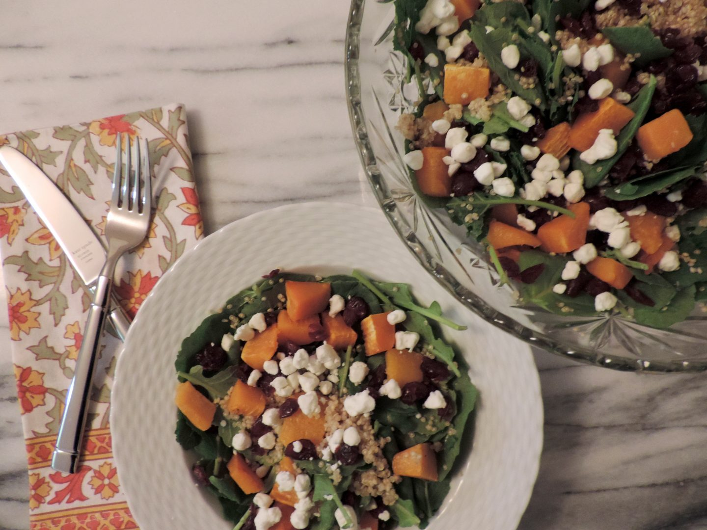 The Ultimate Fall Salad: Baby Kale, Quinoa and Butternut Squash Salad