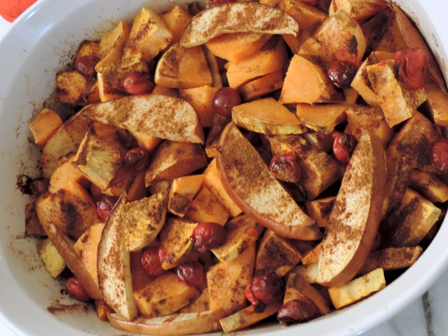 Sweet Potato, Apple and Cranberry Bake