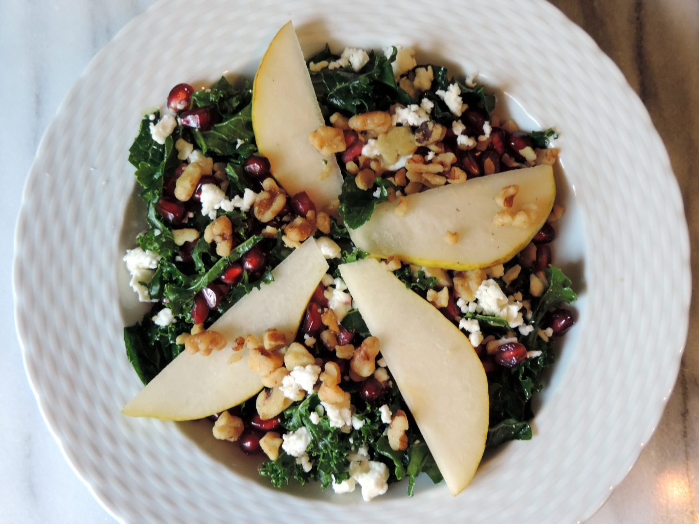 Pear and Pomegranate Kale Salad