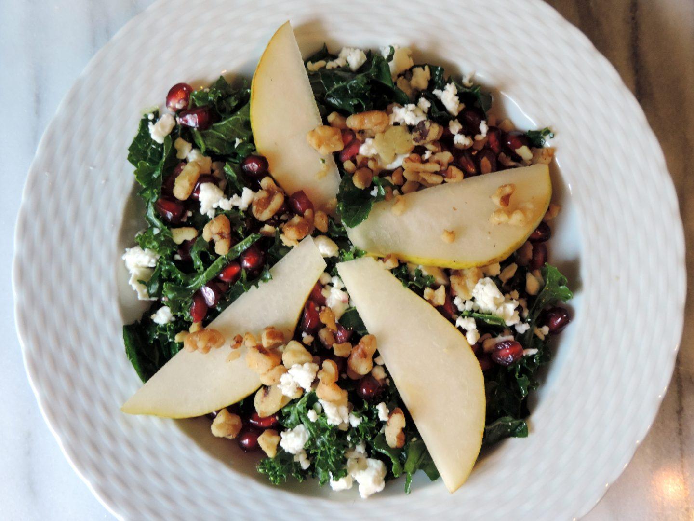 Pear and Pomegranate Kale Salad