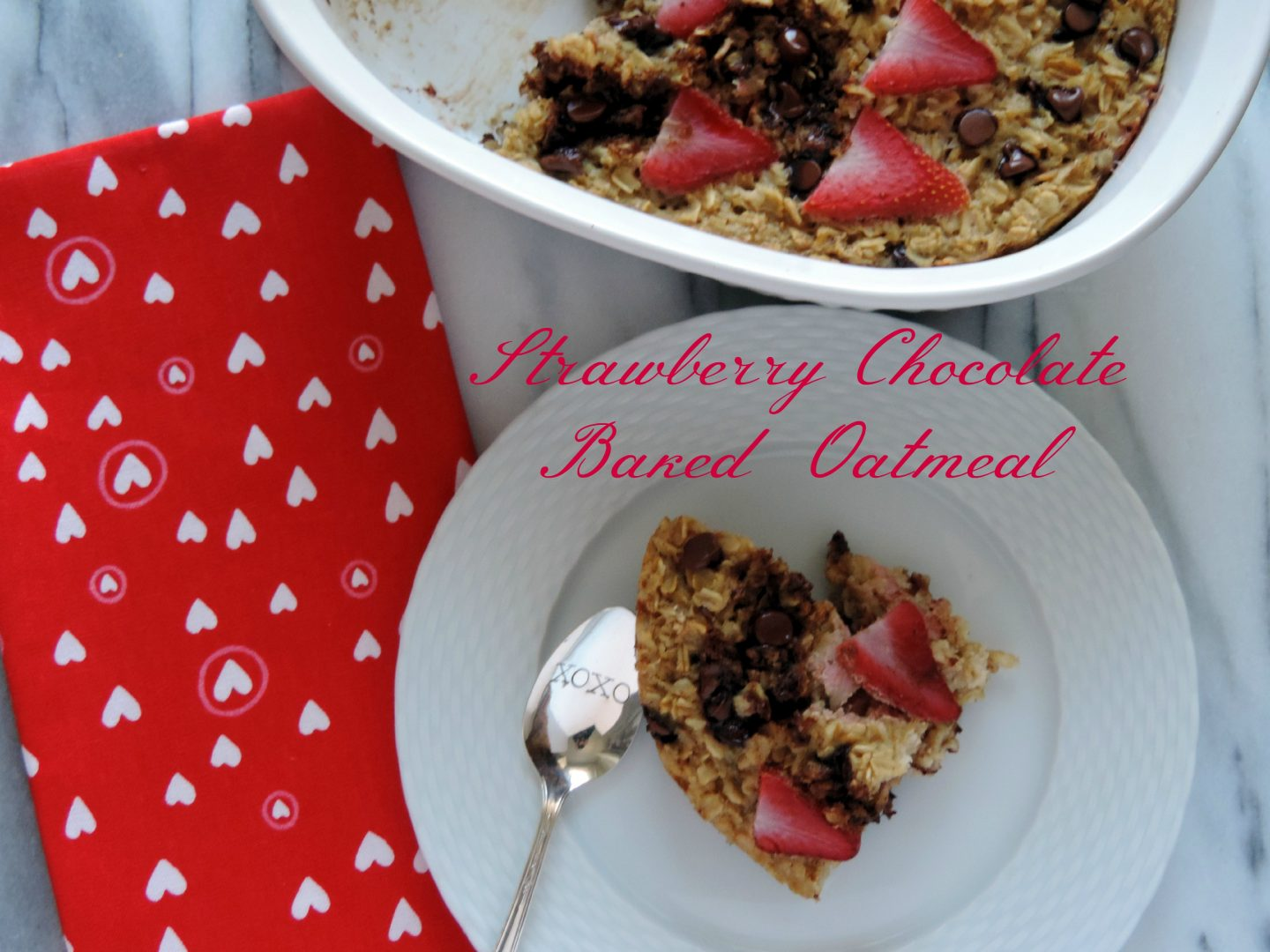 Strawberry Chocolate Baked Oatmeal