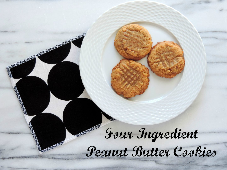 Four Ingredient Gluten-Free Peanut Butter Cookies