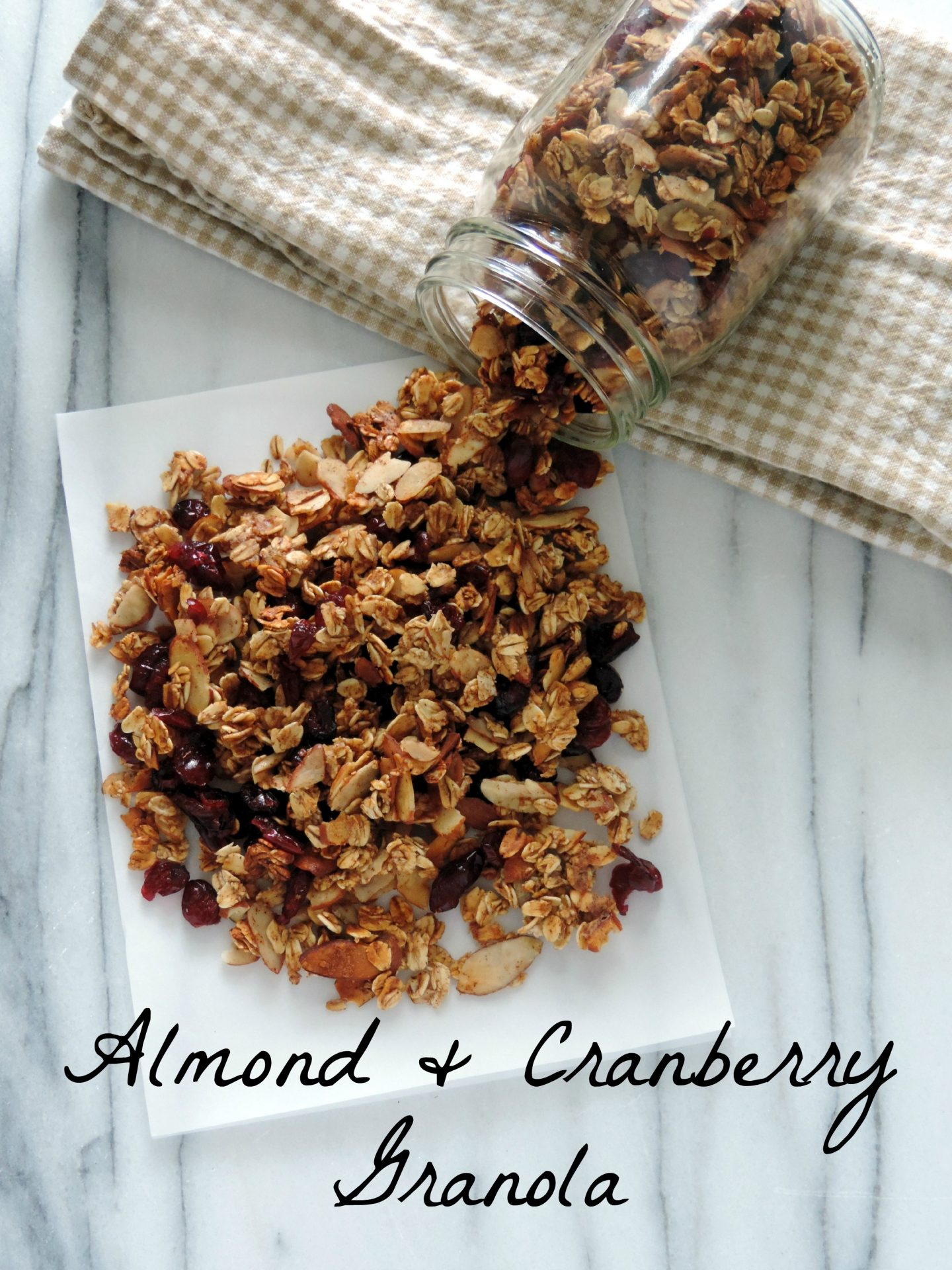 Almond and Cranberry Granola