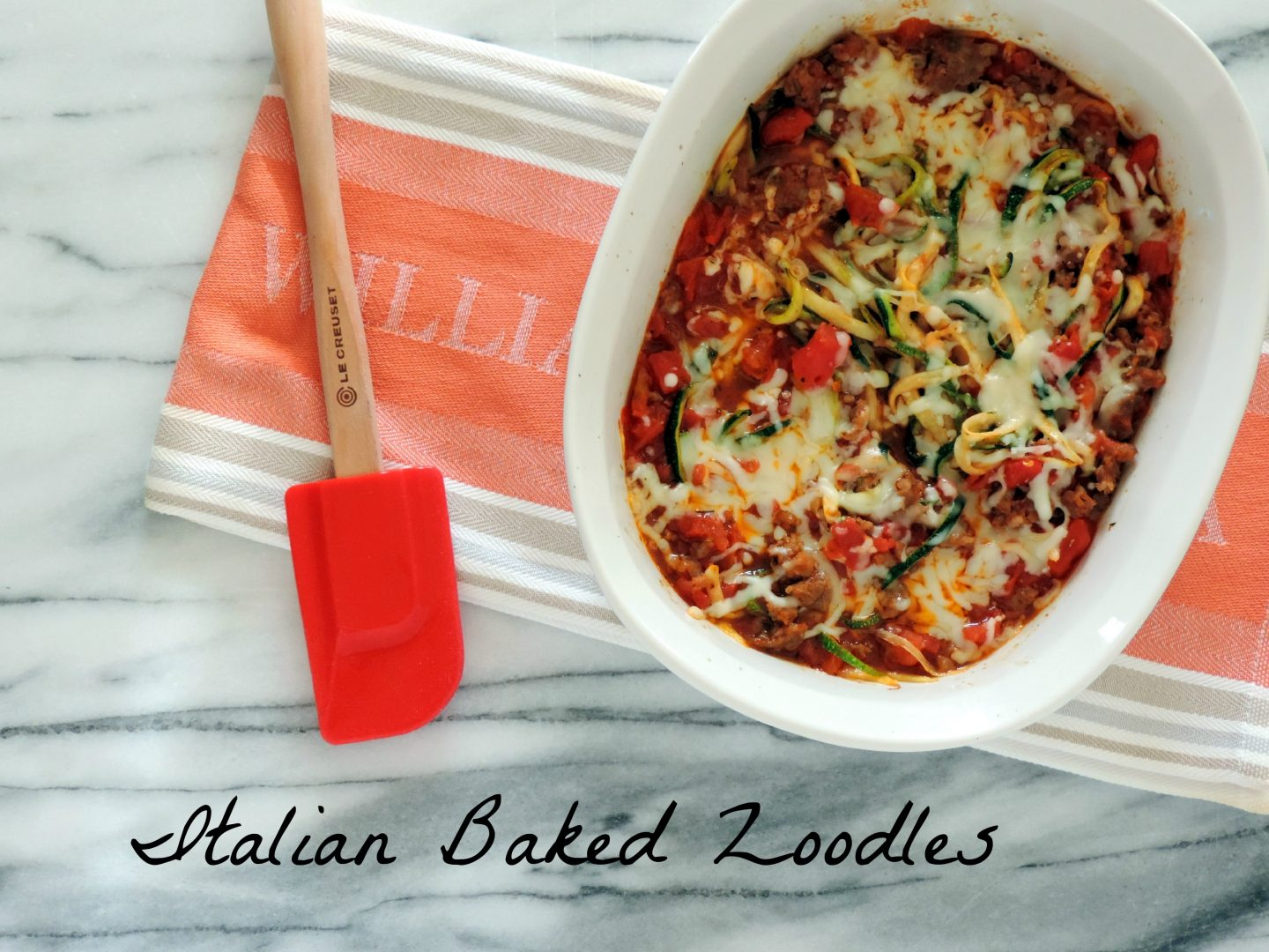 Italian Baked Zoodles