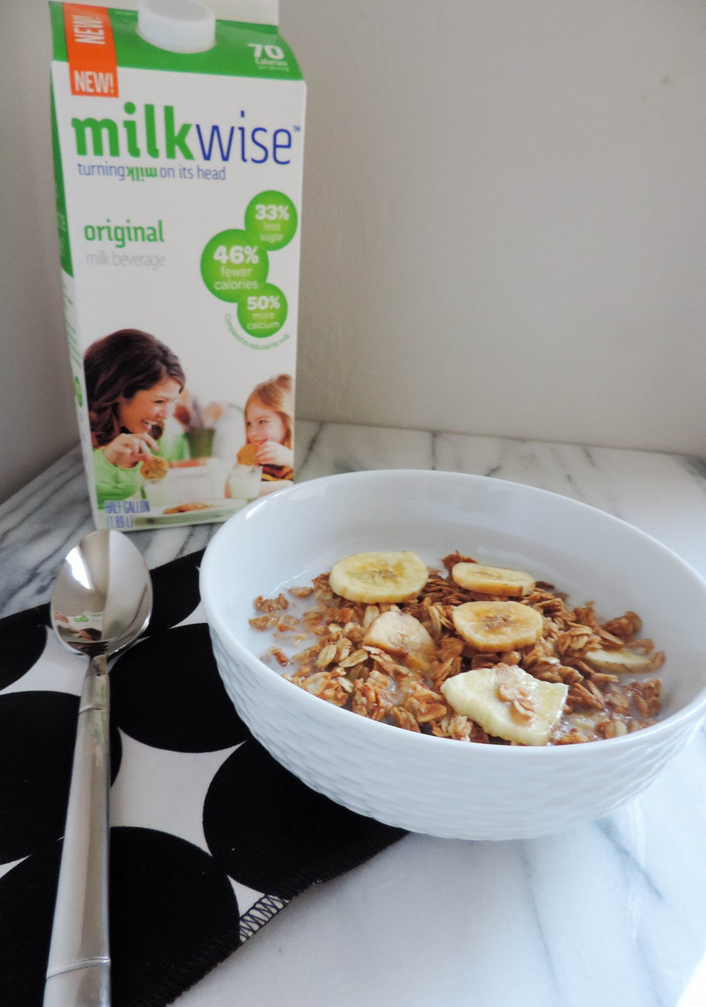 Peanut Butter and Banana Granola with MilkWise