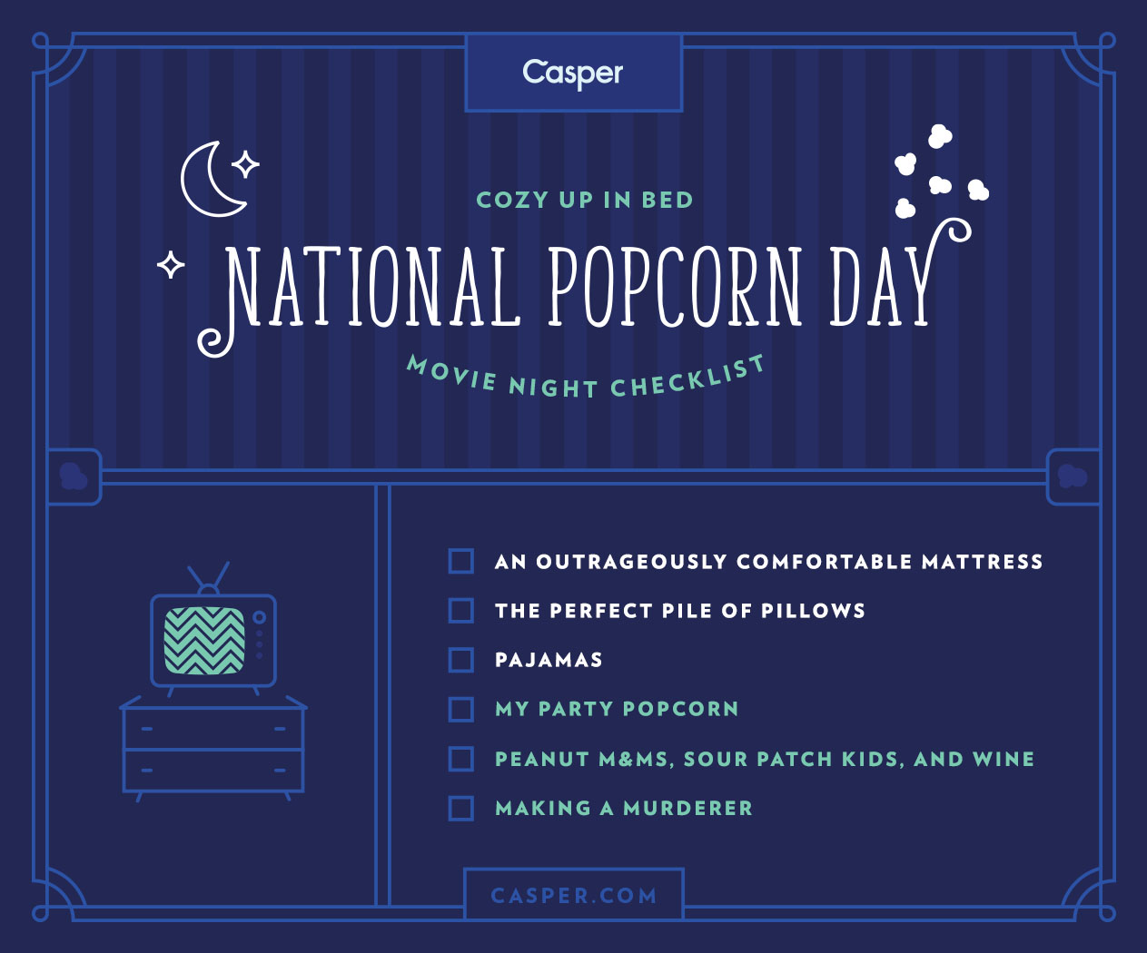 Celebrating National Popcorn Day With A Night In