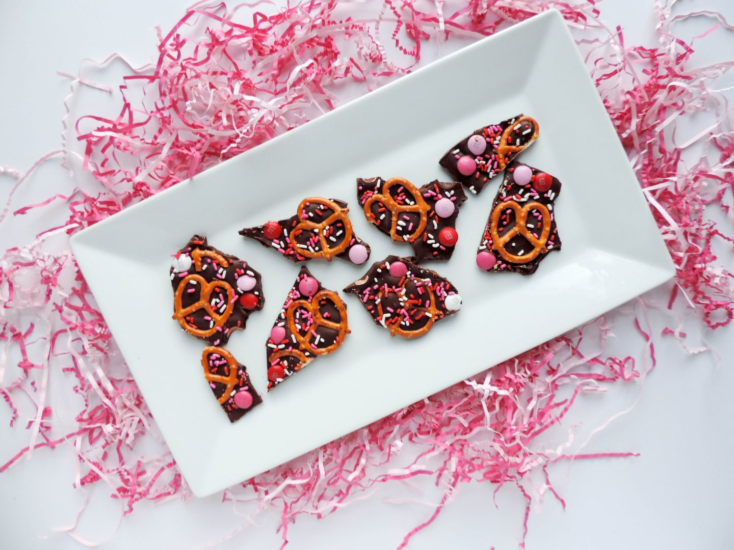 Sweet and Salty Valentine's Day Pretzel Bark
