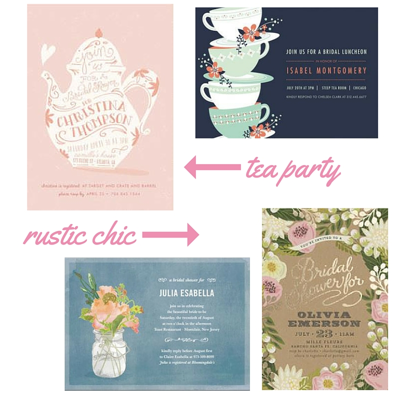Hostess With The Mostest: Bridal Shower Invitation Inspiration