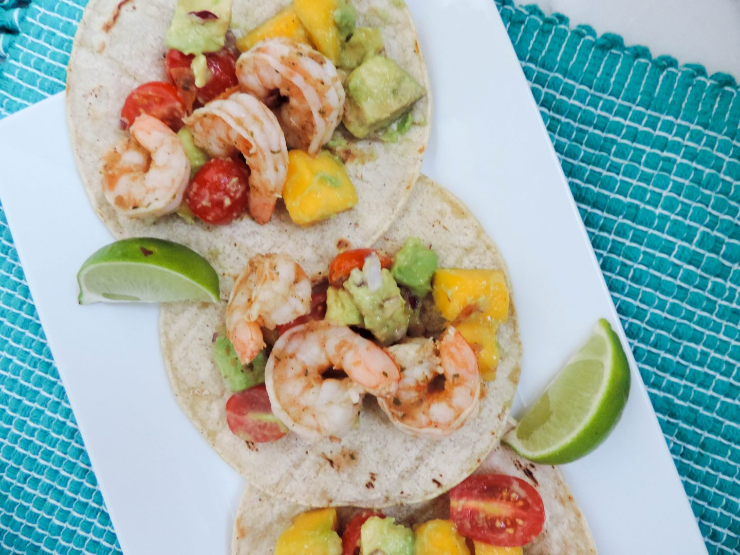 Mango-Avocado Shrimp Tacos with Nola's Salsa