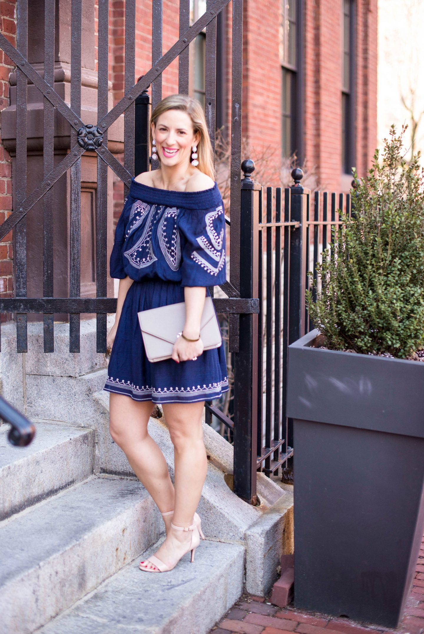 Off-The-Shoulder Dress with Femme Boutique Boston