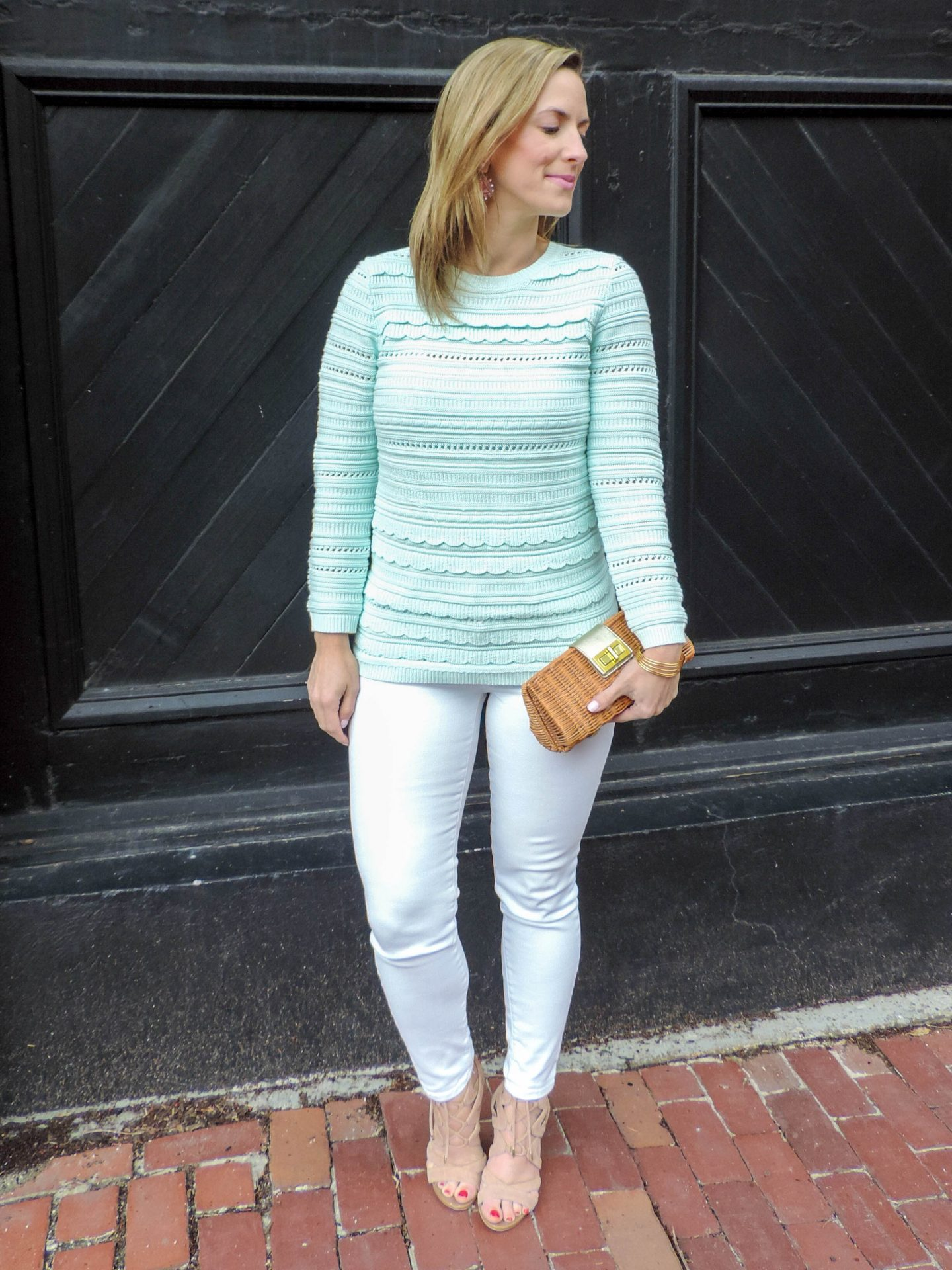 Scalloped Spring Sweater