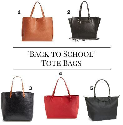 Back To School Tote Bags - Boston Chic Party
