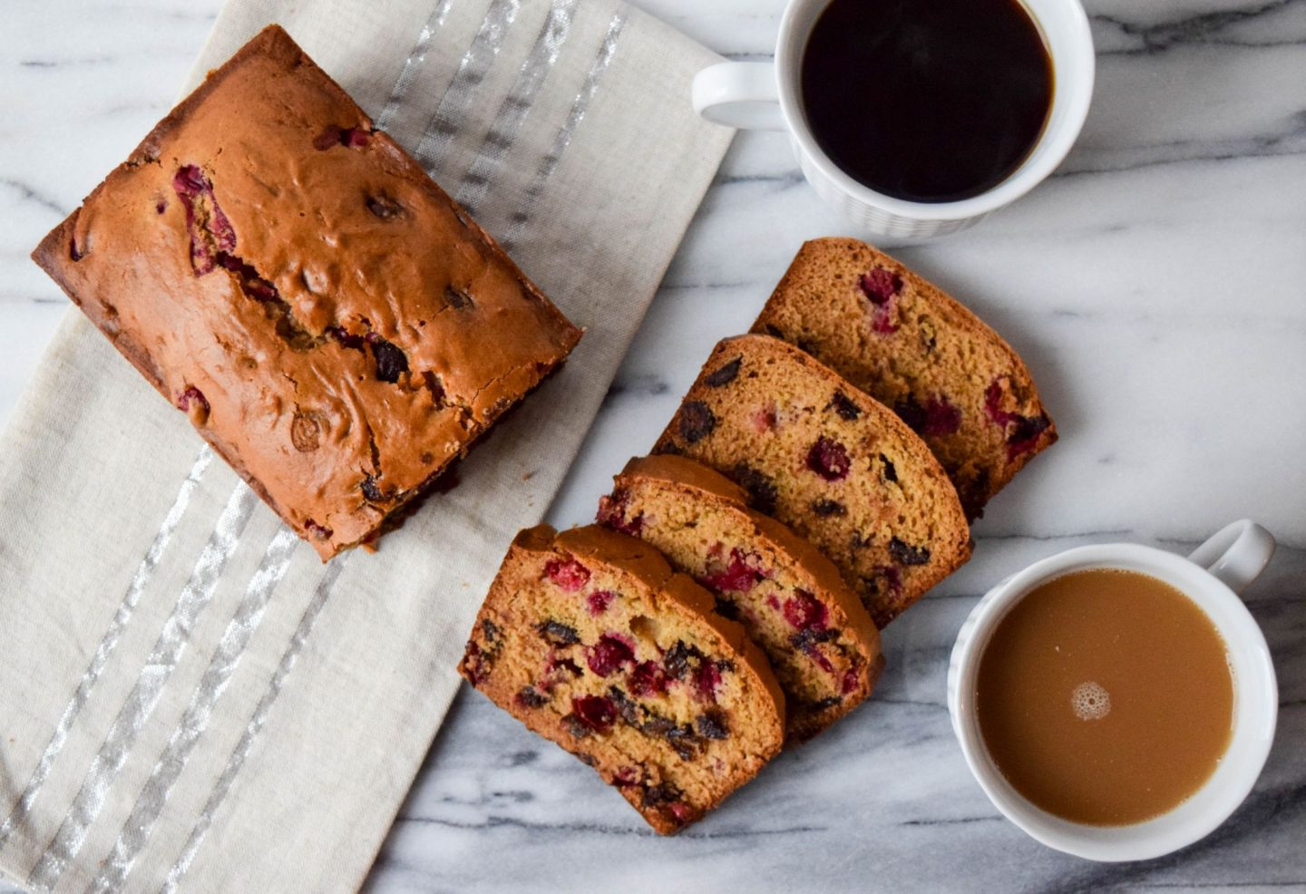 Cranberry and Dark Chocolate Breakfast Bread