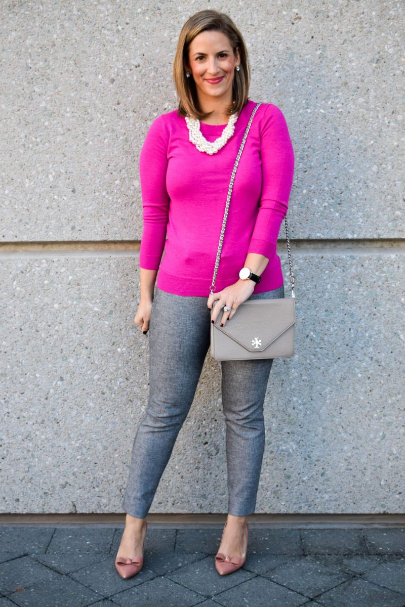 pink-gray-office-ootd-1