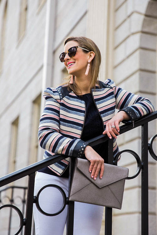 Striped Spring Blazer