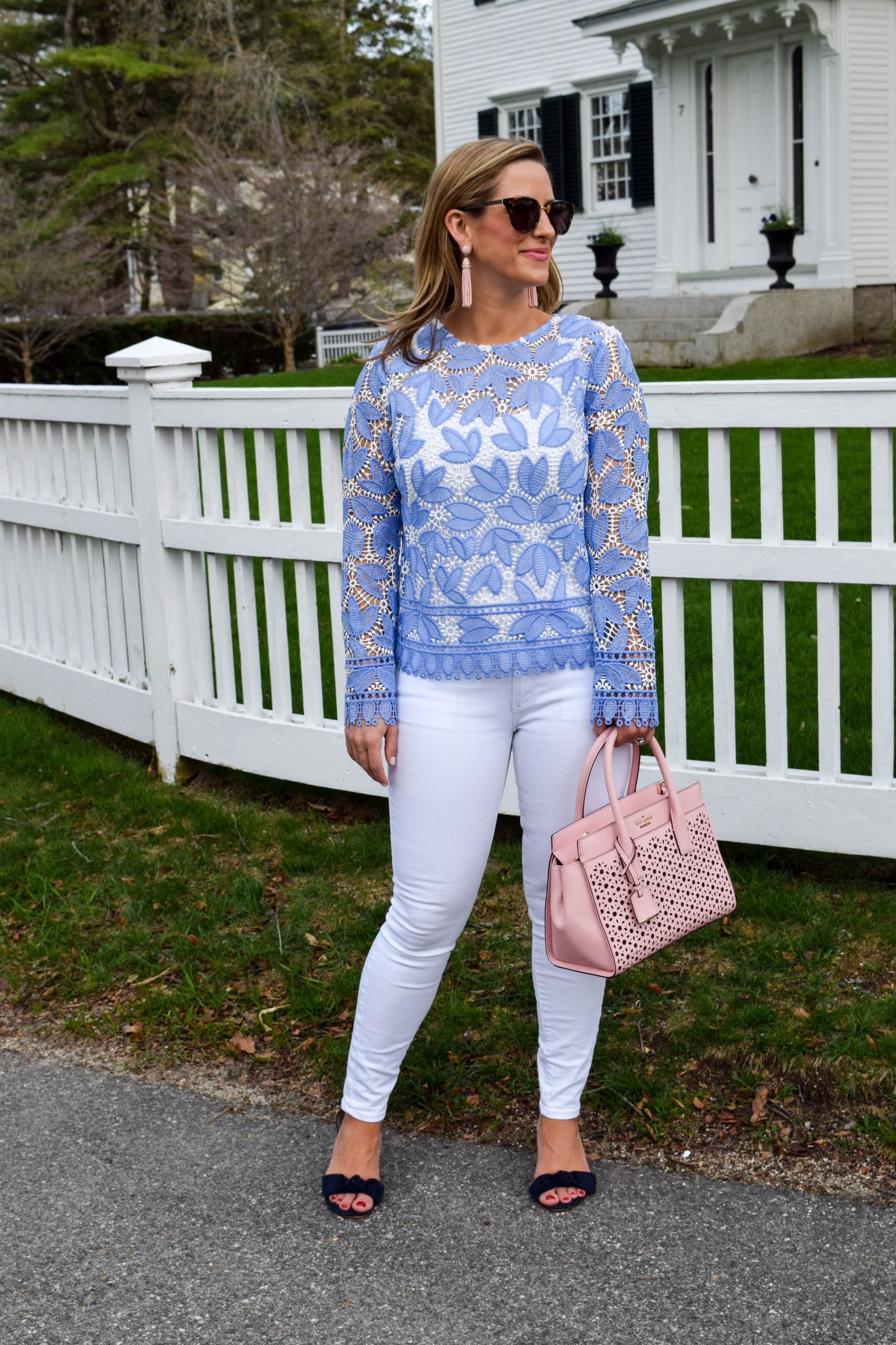 Blue Lace And Pastel Pink Boston Chic Party