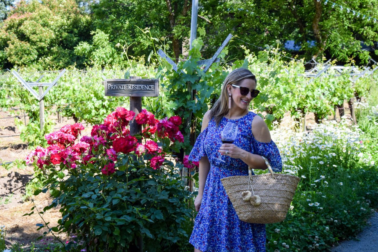Floral Dresses and Napa Vines