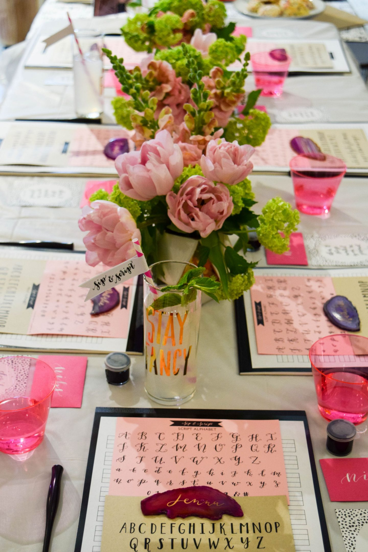 Boston Buzz: Sip and Script Calligraphy Classes