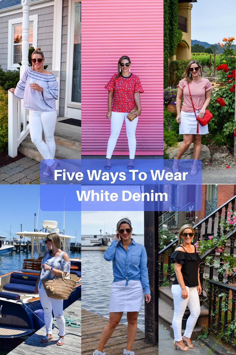 Five Ways To Wear White Denim