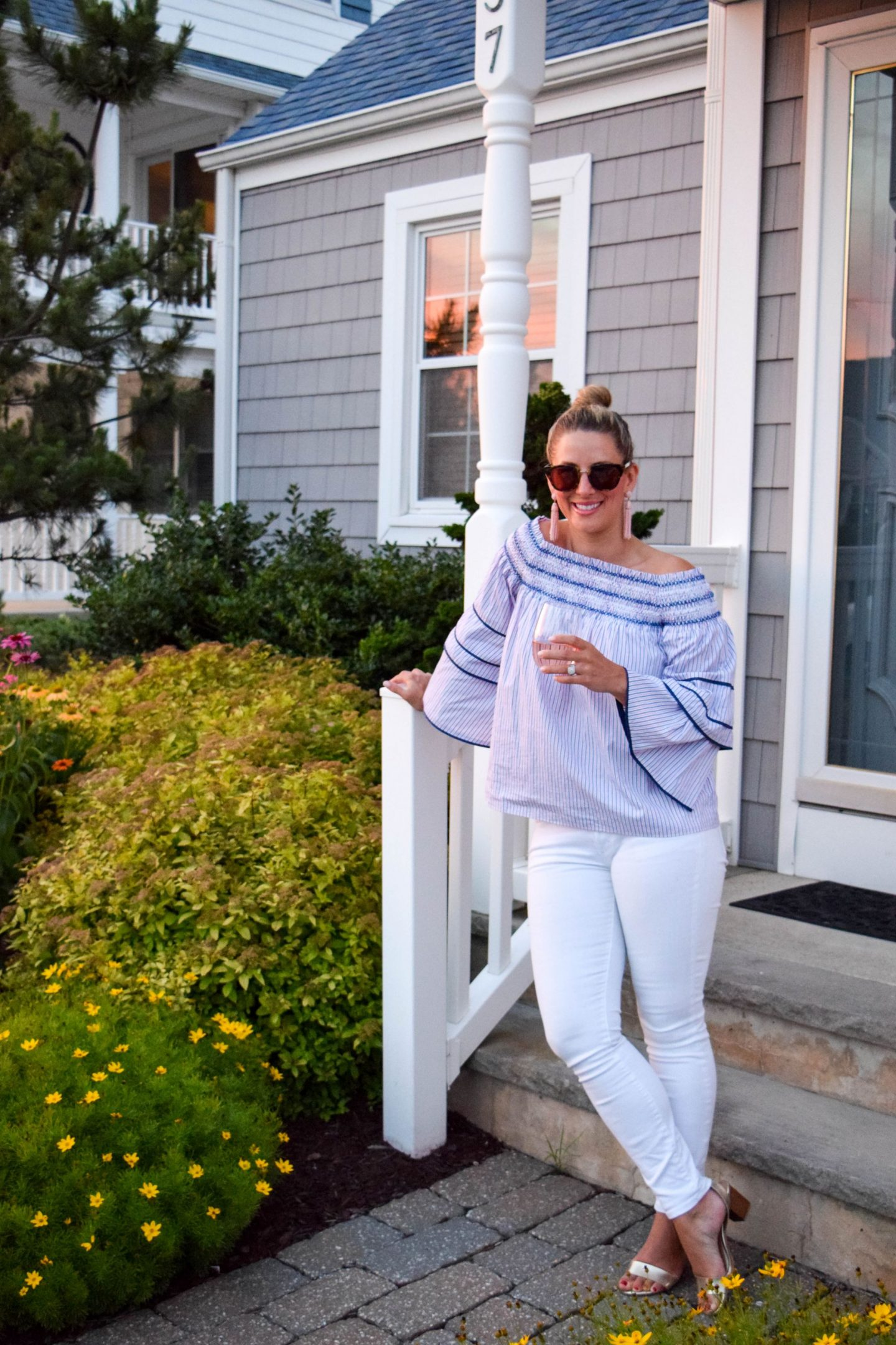 My Summer Uniform: Striped and Off The Shoulder Top