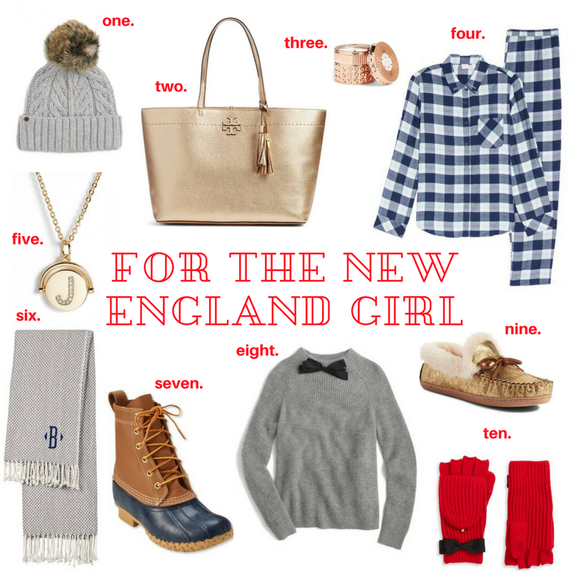 Gift Guide- For The New England Girl 2017