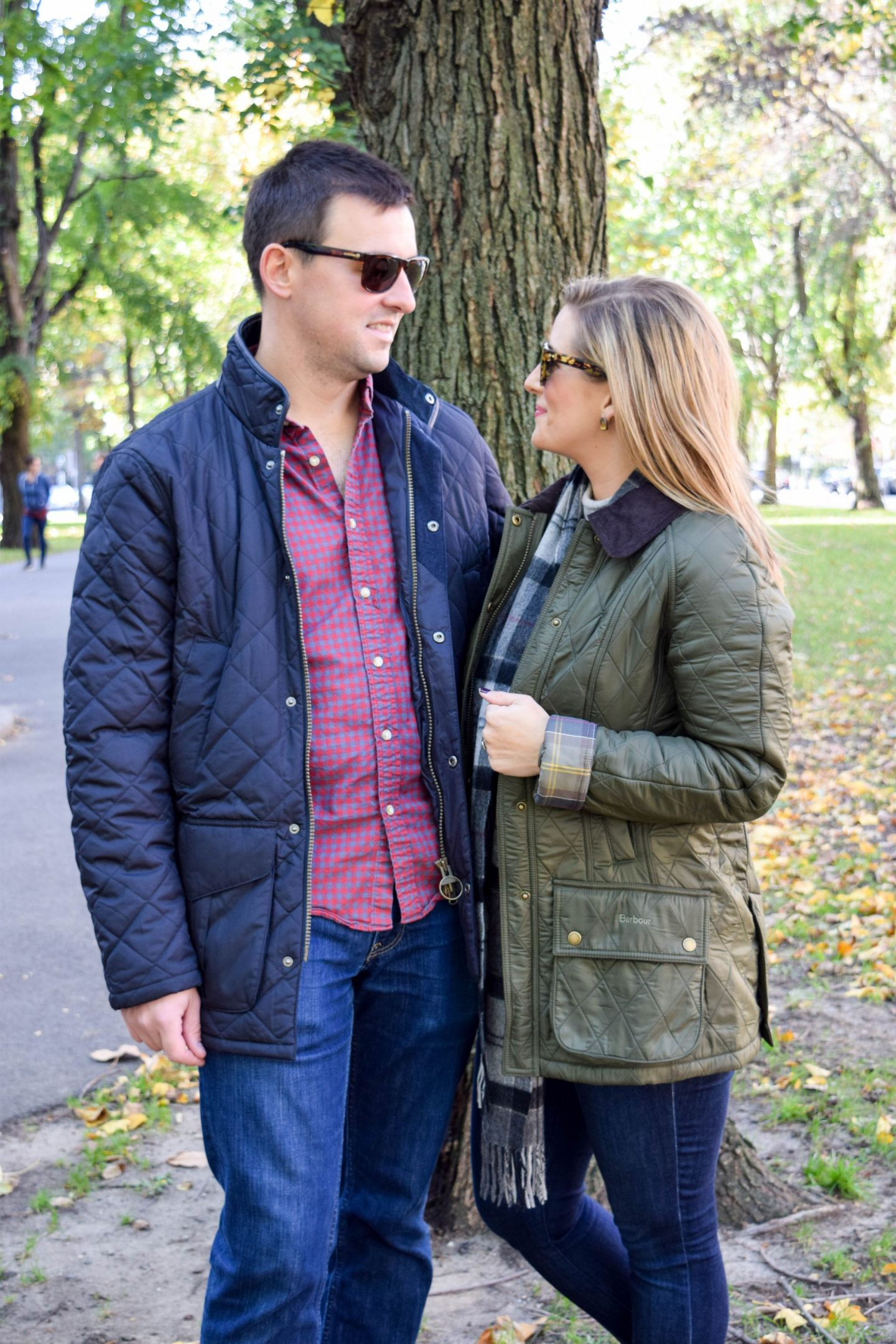 His and Hers Fall Jackets with Barbour