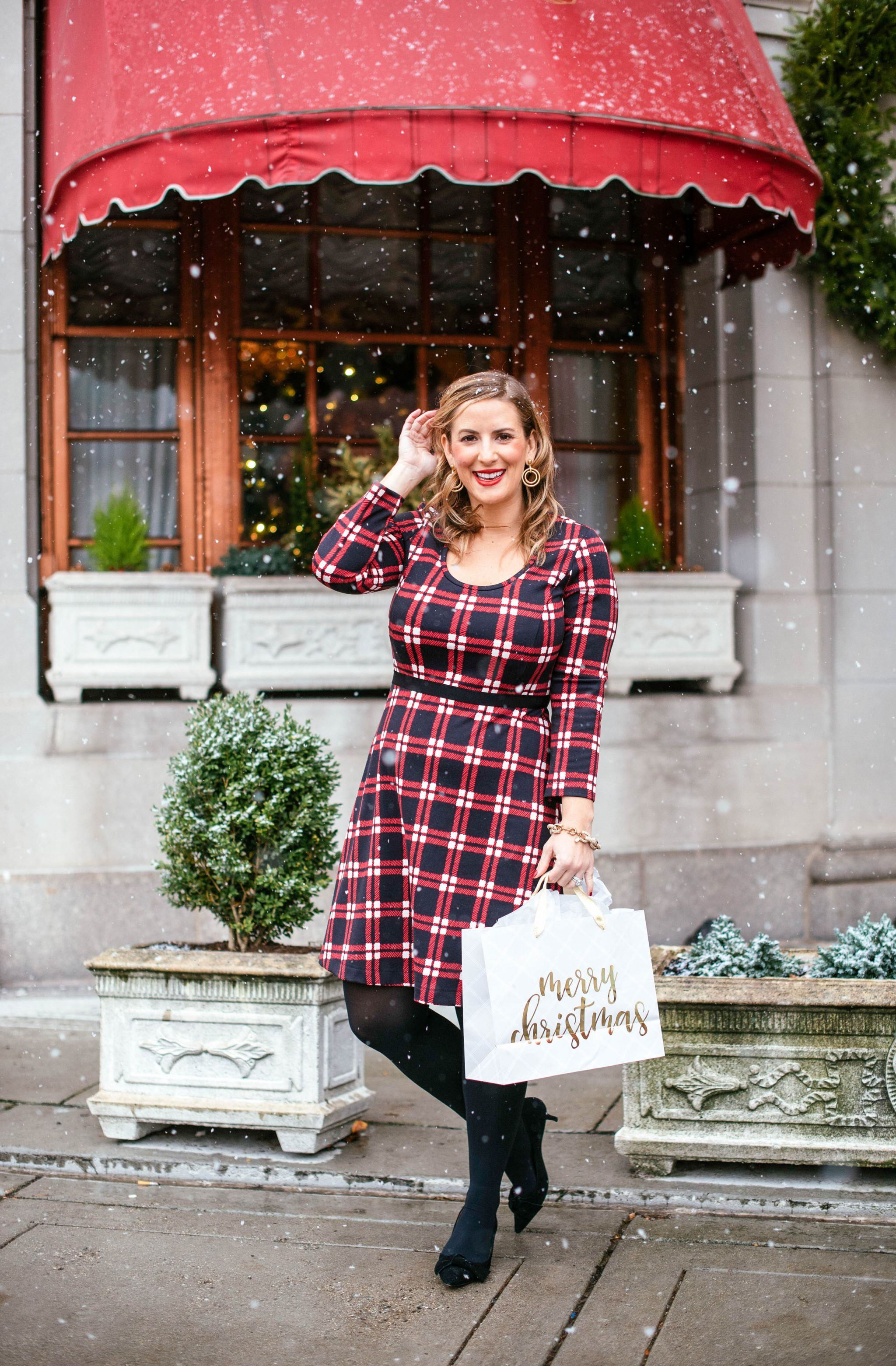 Christmas Eve Dresses.Draper James Holiday Windowpane Plaid Dress Christmas Eve