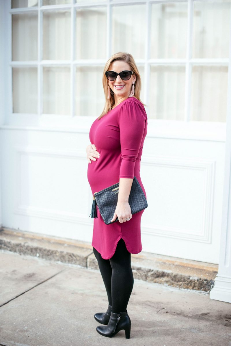 Little pink valentines day maternity dress boston chic party dress rosie pope maternity similar non maternity items linked below tights a pea in the pod best bump friendly tights i have found shoes sam edelman ombrellifo Gallery