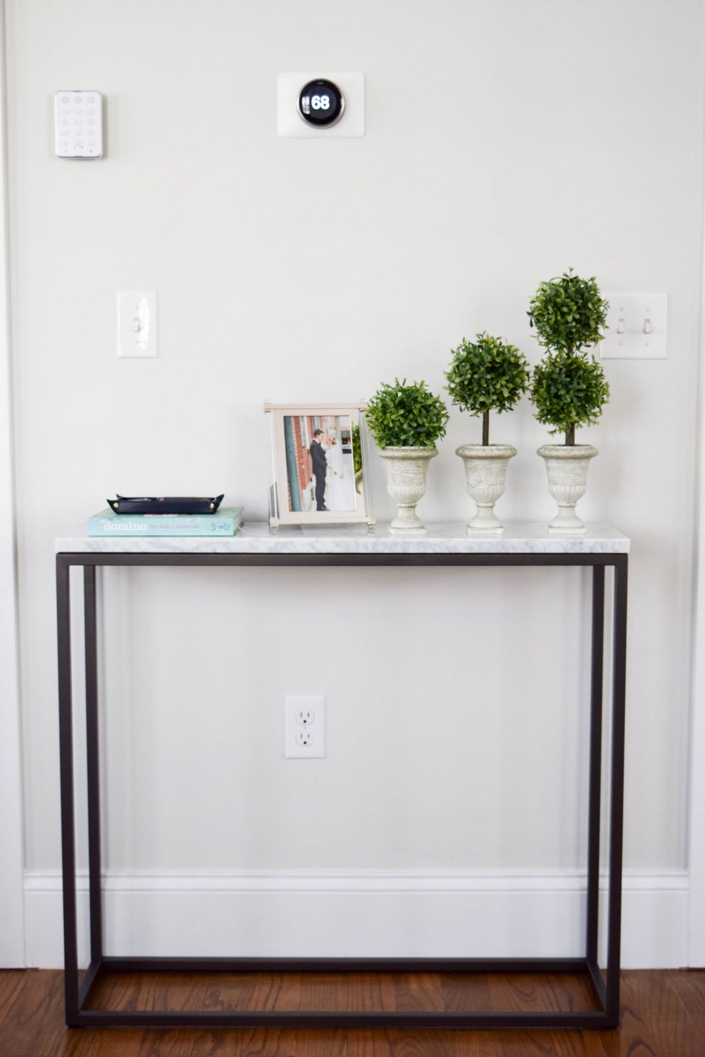 Creating An Entryway Feel  With A Console Table
