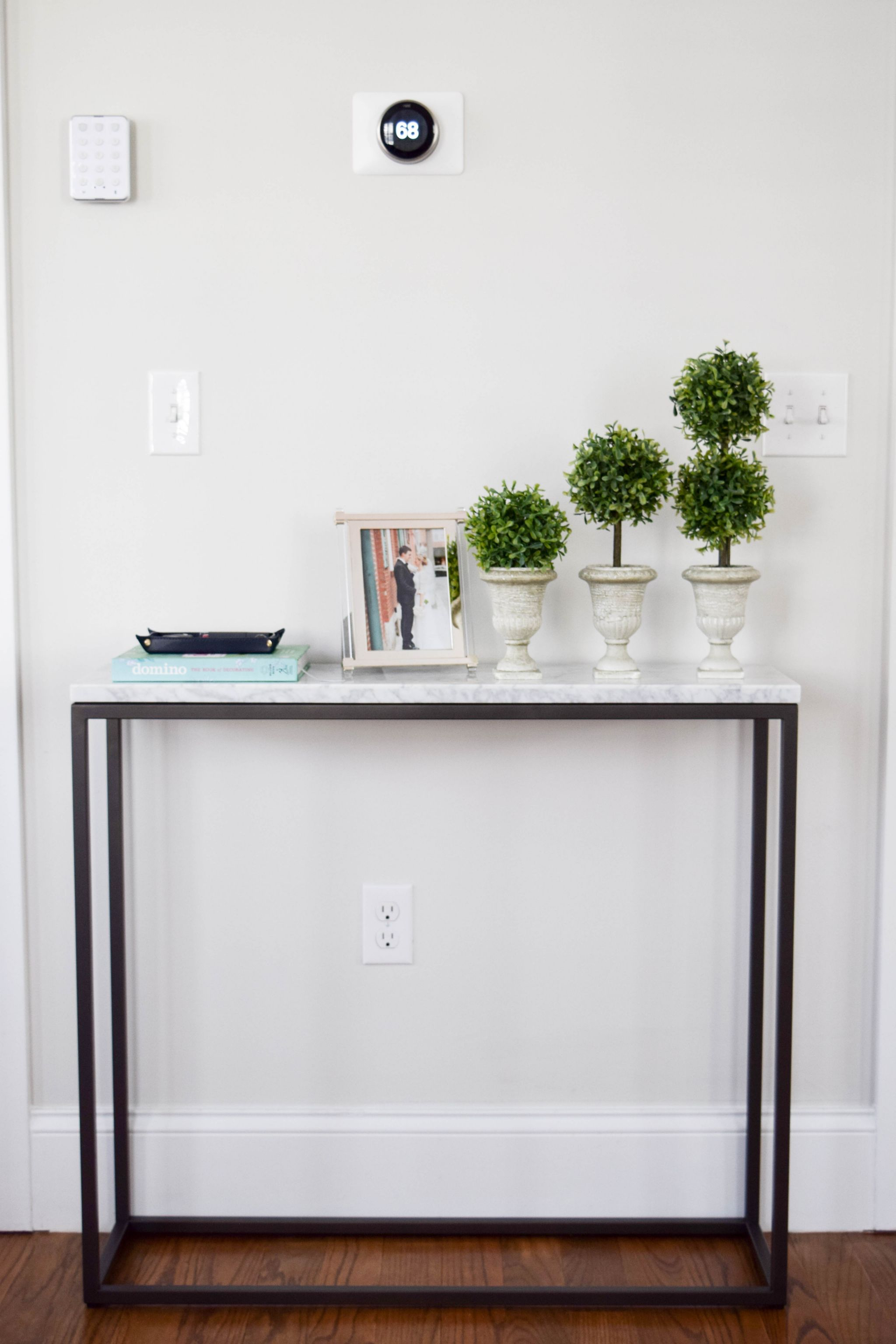 West Elm Marble Console Table Boston Chic Party 1 2
