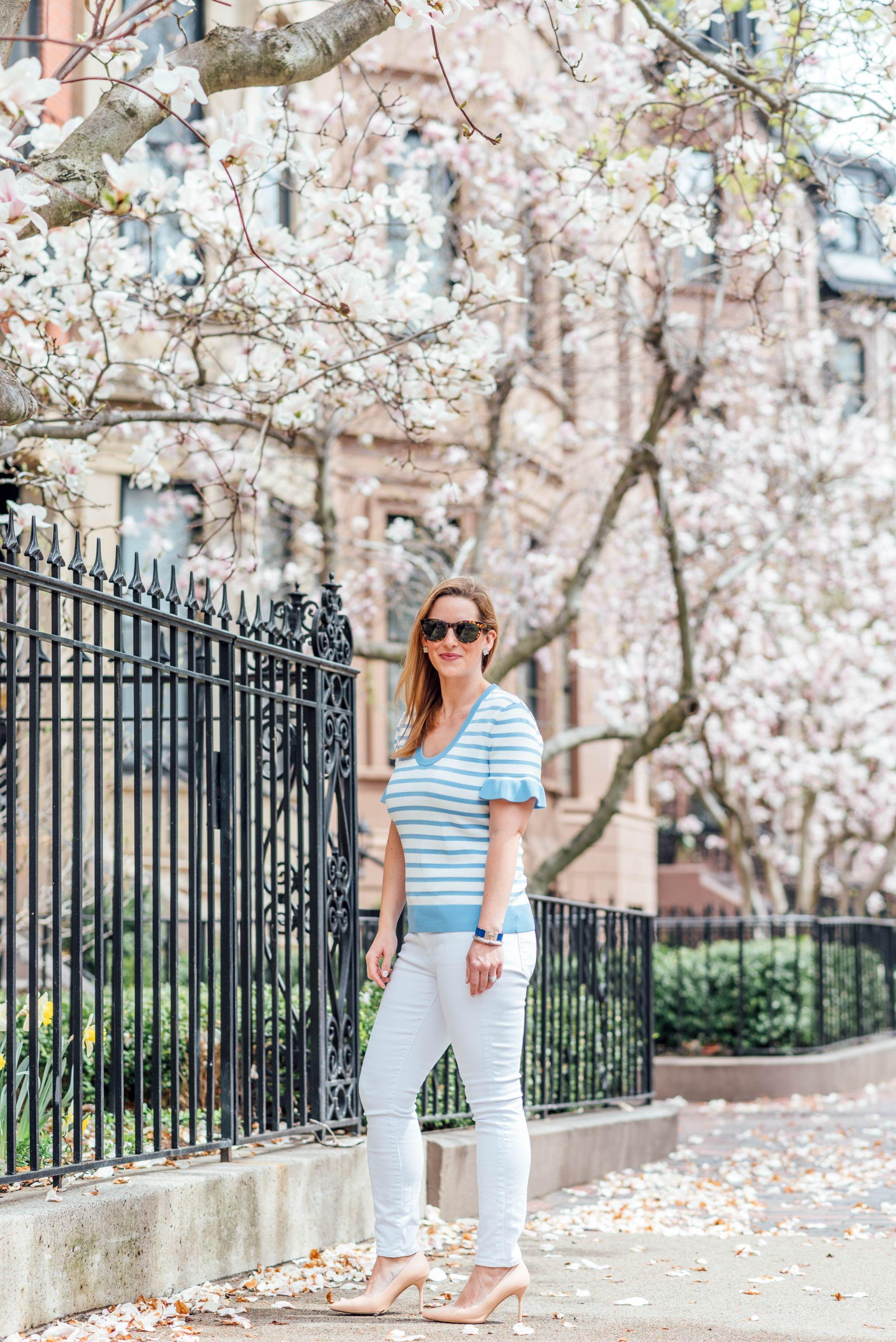 d453f1b78db Stripes, Ruffles & White Jeans - Boston Chic Party