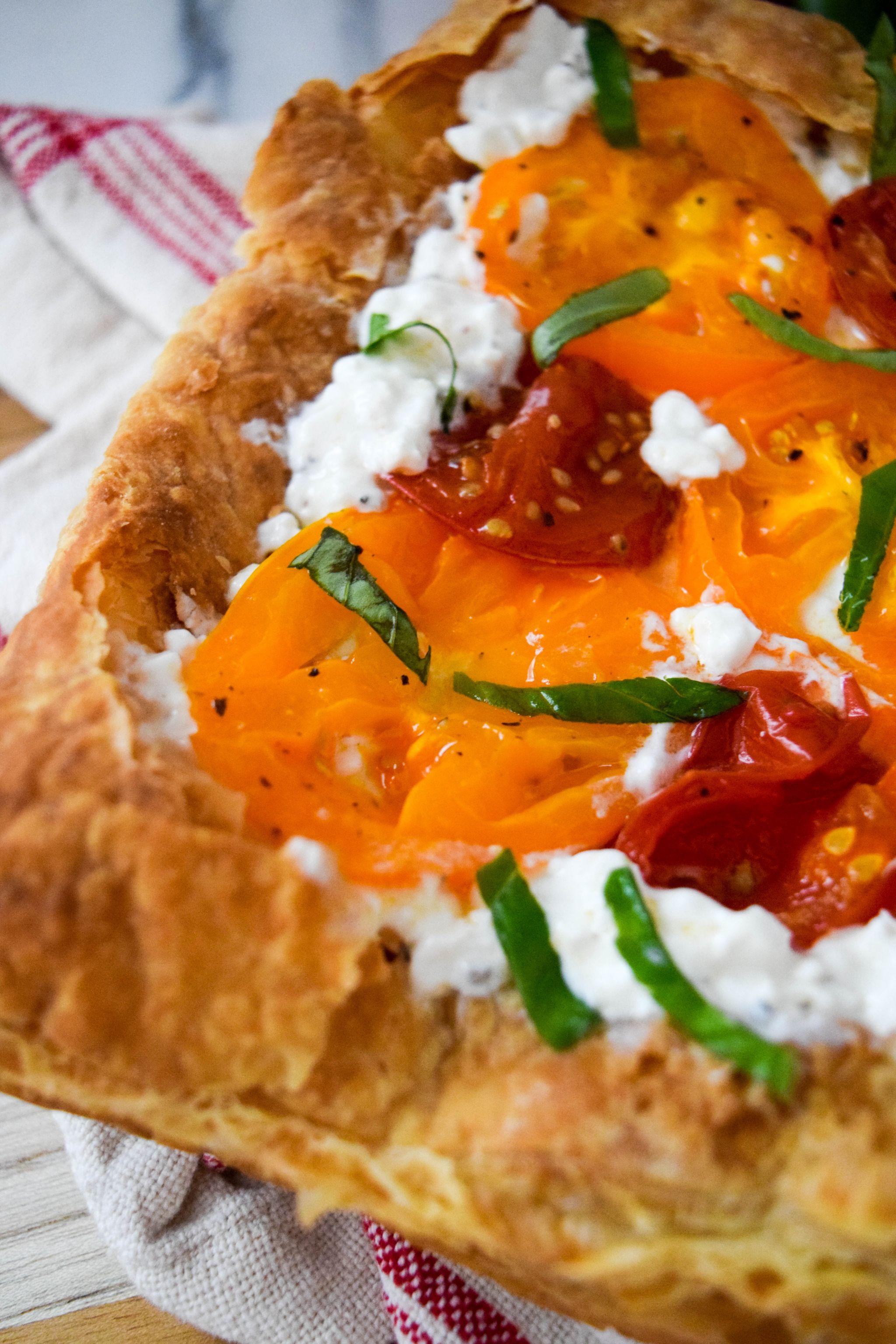 Heirloom Tomato And Cottage Cheese Tart