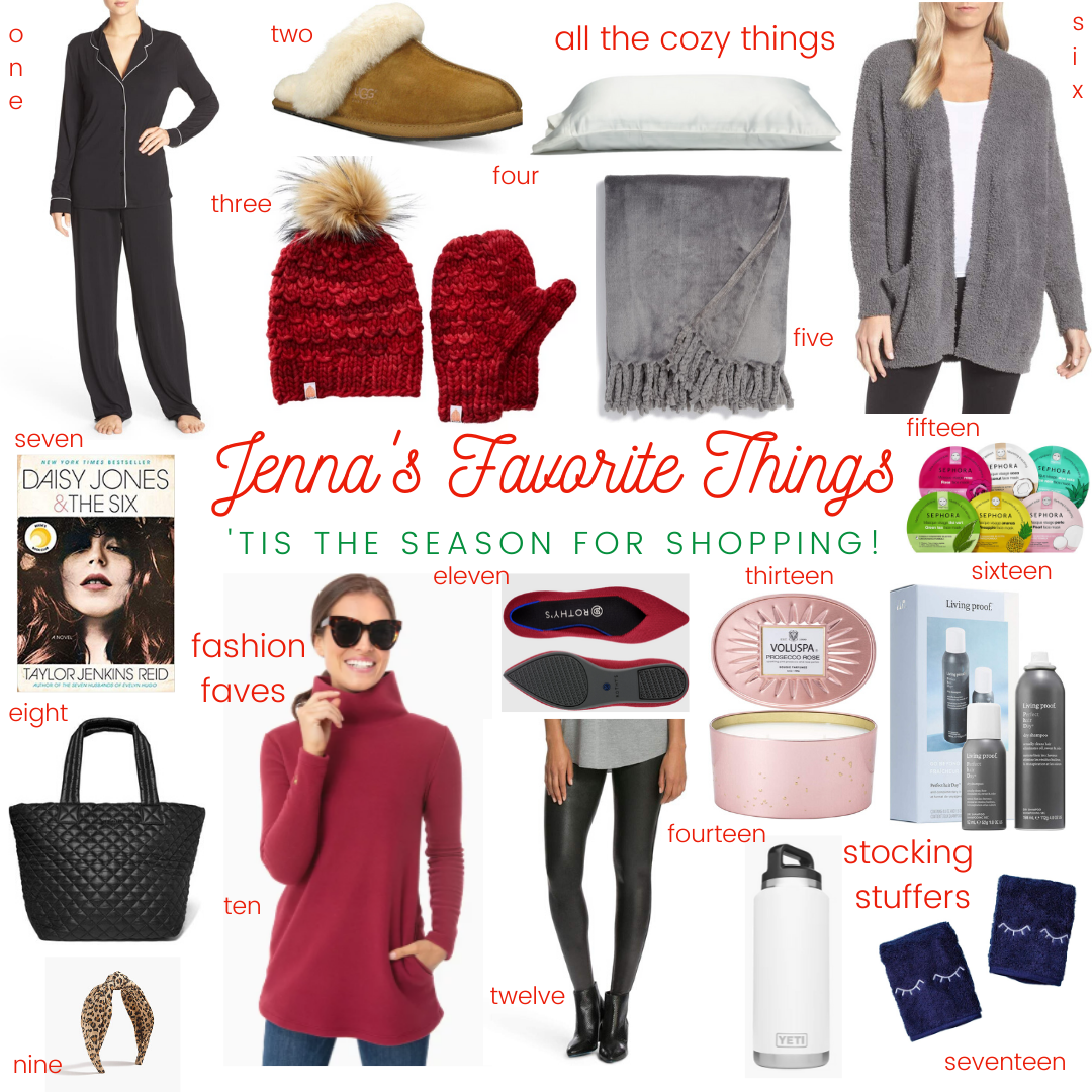 Holiday Gift Guide- Jenna's Favorite Things